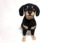 フェルトアート ミックス犬